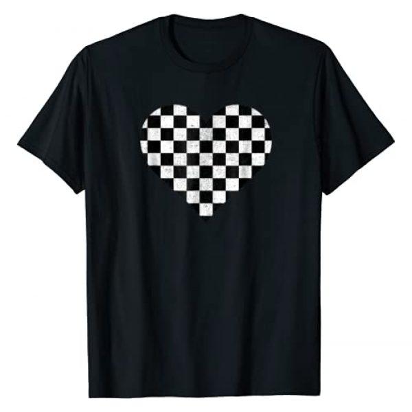 Get Checkered Apparel Graphic Tshirt 1 Checkered love heart black and white plaid distressed tshirt