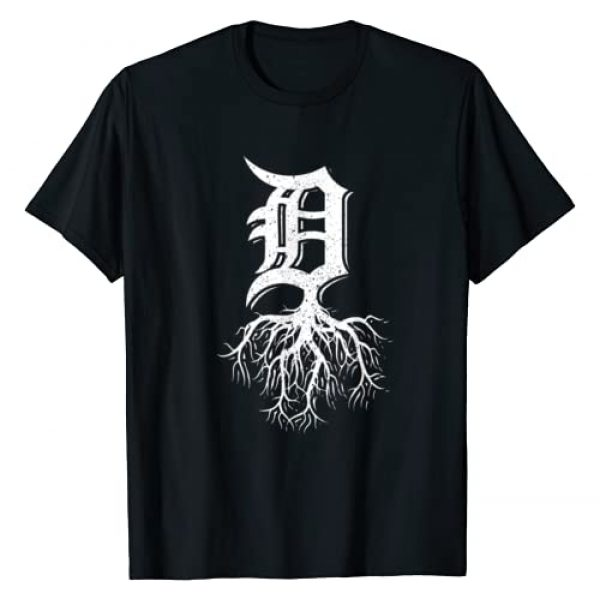 InGENIUS Detroit Roots Local Resident Souvenir Graphic Tshirt 1 Detroit Roots Michigan American Born Rooted American Gifts T-Shirt