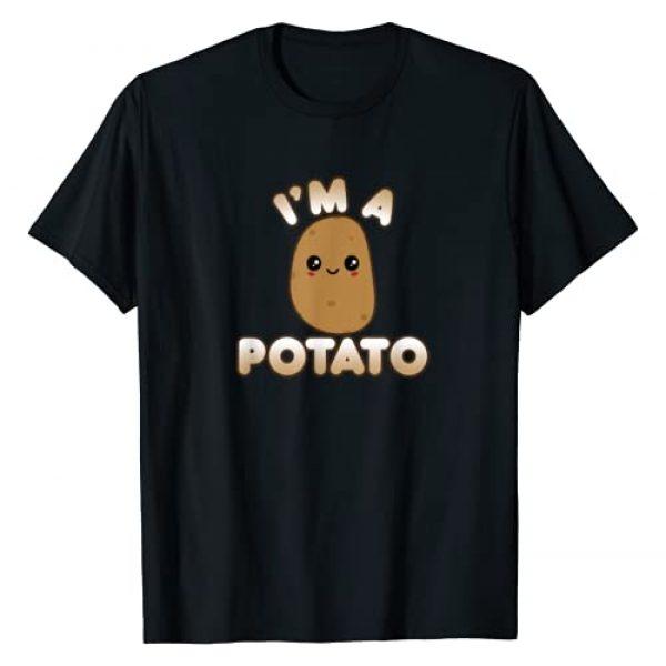 Cute Kawaii I'm A Potato Costume Shirts And Gifts Graphic Tshirt 1 Funny Potato Costume Cute Kawaii Style Smiling I'm A Potato T-Shirt