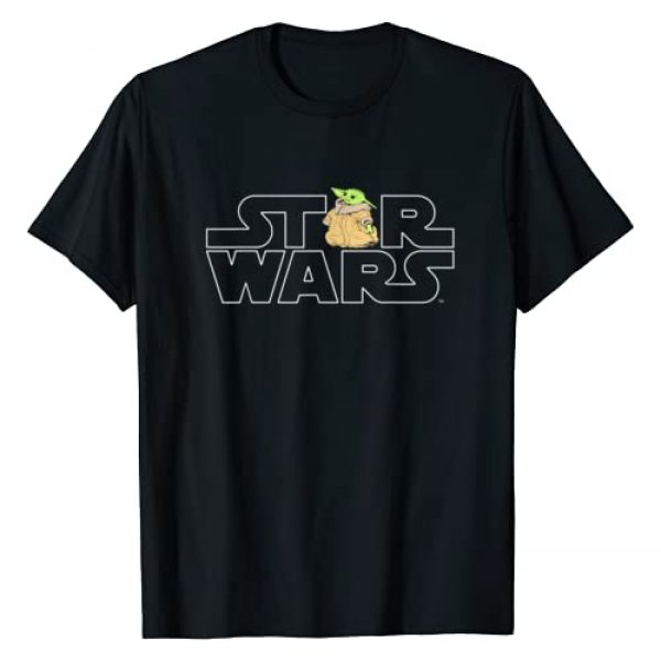Star Wars Graphic Tshirt 1 Logo and The Child from The Mandalorian T-Shirt