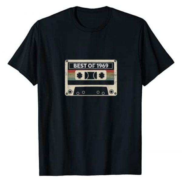 BORN Graphic Tshirt 1 Vintage Cassette Tape Best of 1969 50th Birthday T-Shirt