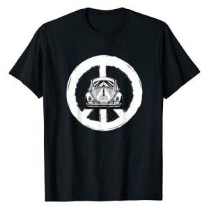 Automotive Apparel 1 Graphic Tshirt 1 Retro Peace Car Buggy Bug Auto California Love LGBT T-Shirt