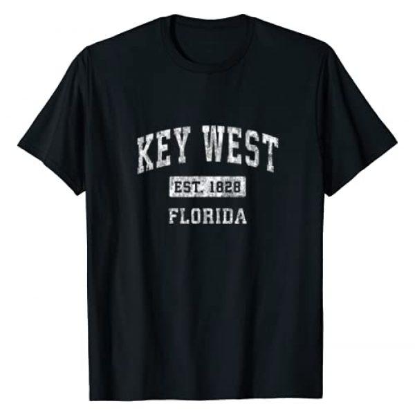 Key West FL T-Shirts & Retro Tees Graphic Tshirt 1 Key West Florida FL Vintage Established Sports Design T-Shirt