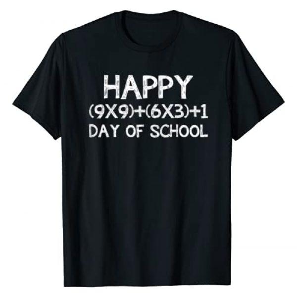 100th Day of School Shirt 2019 2020 Graphic Tshirt 1 Math Formula 100 Days Of School Shirt Teacher Boy Girl Gift T-Shirt