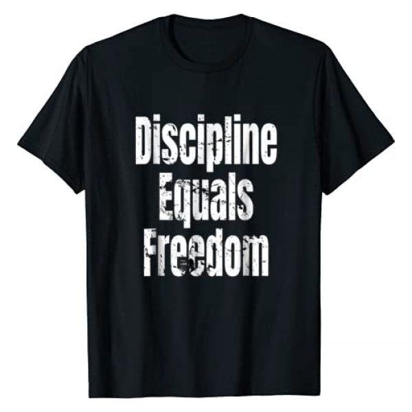 Discipline Equals Freedom T-Shirt Graphic Tshirt 1 Discipline Equals Freedom - Motivational Quote T-Shirt