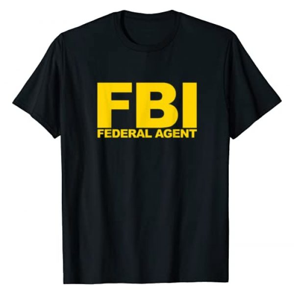 Official Federal Agent Apparel Graphic Tshirt 1 FBI Federal Agent T-Shirt