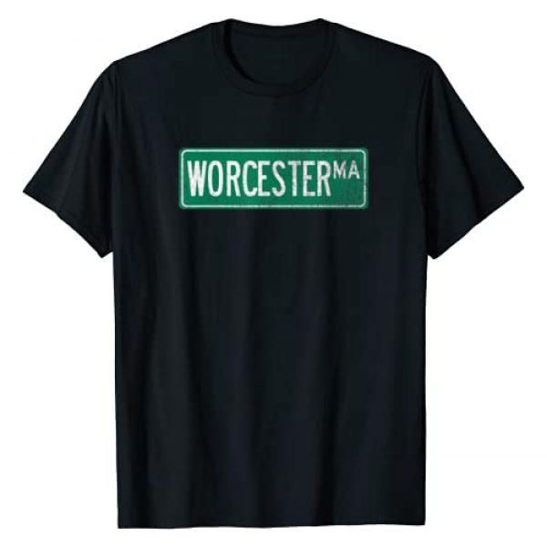 Vintage Worcester Street Sign Co Graphic Tshirt 1 Retro Style Worcester MA Street Sign T-Shirt