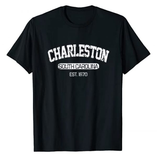 Vintage Charleston Souvenir Apparel Co. Graphic Tshirt 1 Vintage Charleston South Carolina Est. 1670 Gift T-Shirt