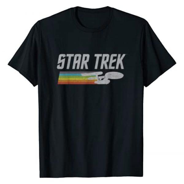 STAR TREK Graphic Tshirt 1 Rainbow Enterprise Starship T-Shirt