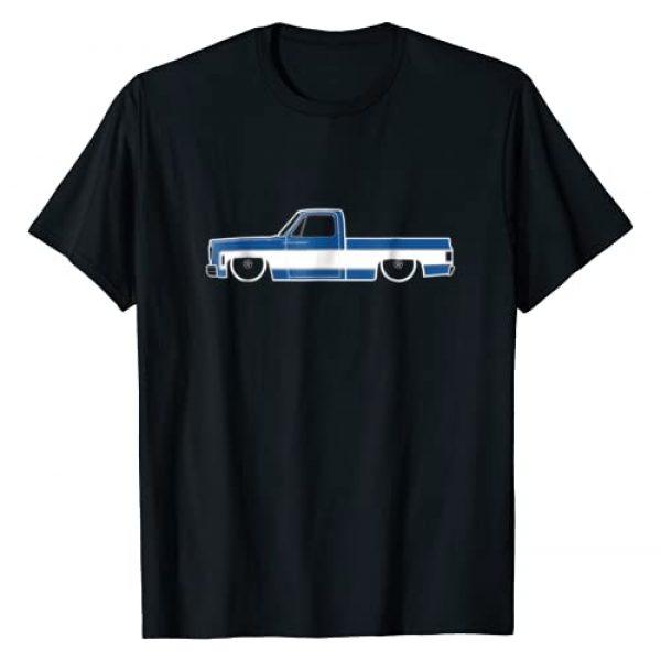 Gravy Gear Graphic Tshirt 1 73-87 Squarebody T-Shirt 2 Tone Blue White Truck