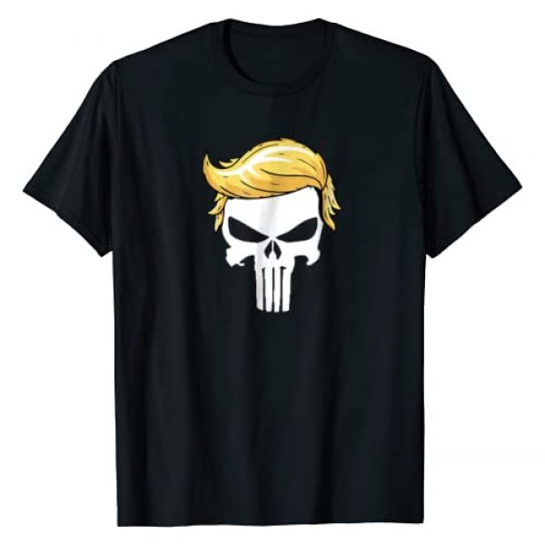 Trump Shirts 2020 Graphic Tshirt 1 Skull with iconic Trump Hair president supporter tshirt
