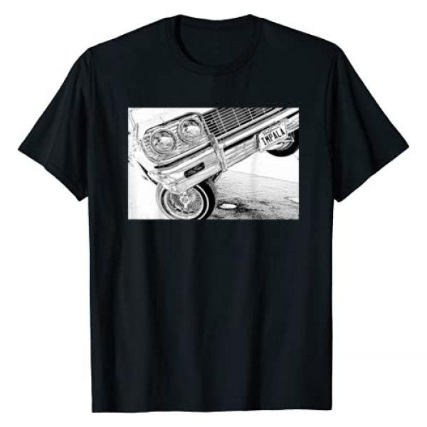 Dippin Tees Graphic Tshirt 1 Lowrider 64 Impala 3 Wheel Close up T-Shirt