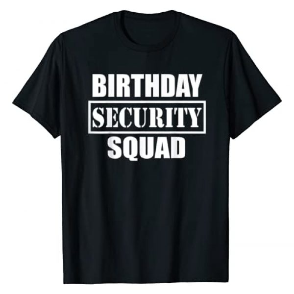 Guard person artwork Graphic Tshirt 1 Birthday Security Squad best ever T-Shirt