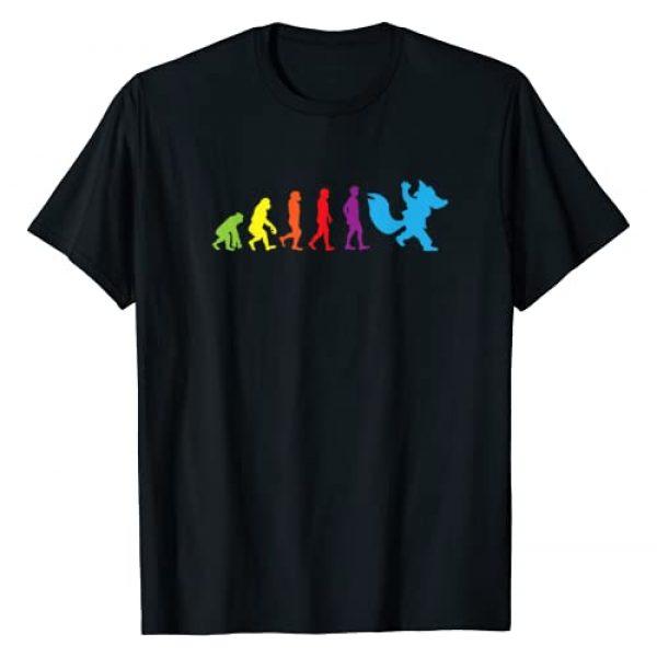 Furry Fandom Shirt by Crush Retro Graphic Tshirt 1 Furry shirt Human Evolution Fursona Women Men Kids Shirts T-Shirt