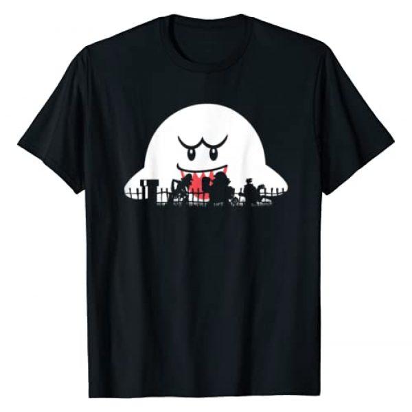SUPER MARIO Graphic Tshirt 1 Boo Trick Or Treat Halloween Silhouette T-Shirt