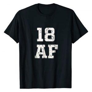 Funny 18 AF 18th Birthday Tee Shirts Graphic Tshirt 1 18 AF 18th Birthday 2000 Vintage Bday Gift T-Shirt