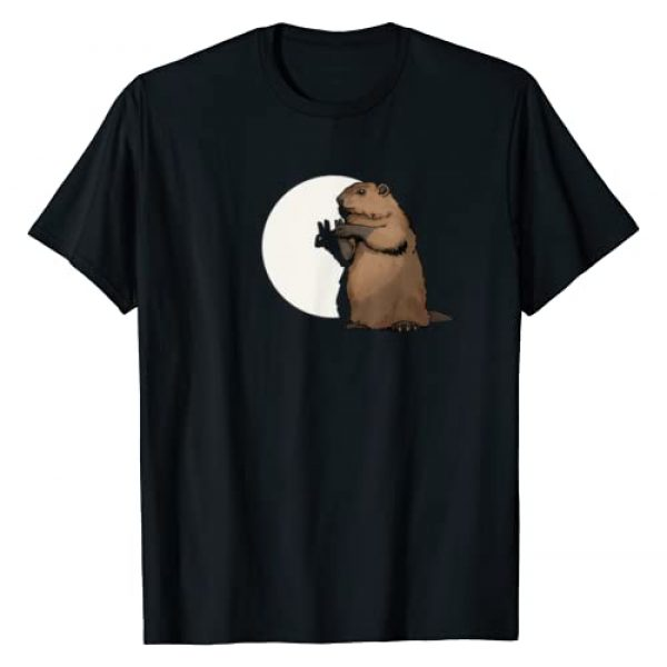 Groundhog Day Holiday Tees Graphic Tshirt 1 Groundhog Day Shadow Puppet Funny Gift T-Shirt