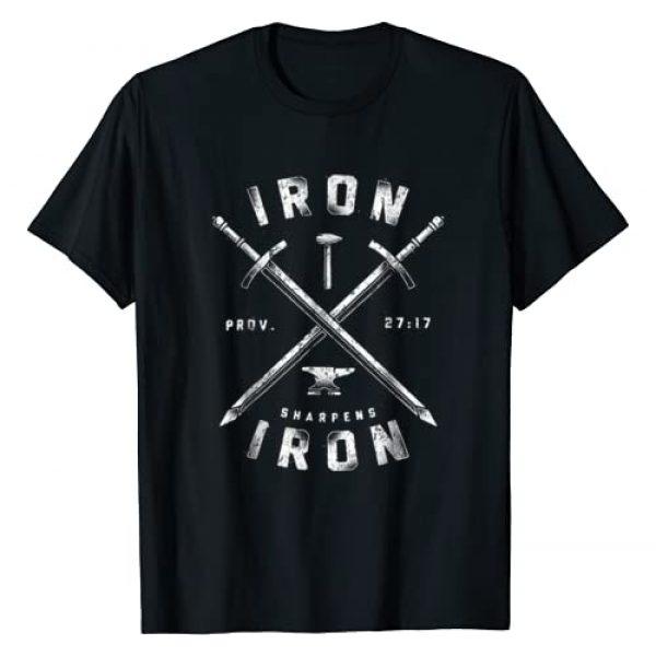 Strong Christian Tee Shirt Gift Graphic Tshirt 1 Iron Sharpens Iron - Men Women Athletic T Shirt