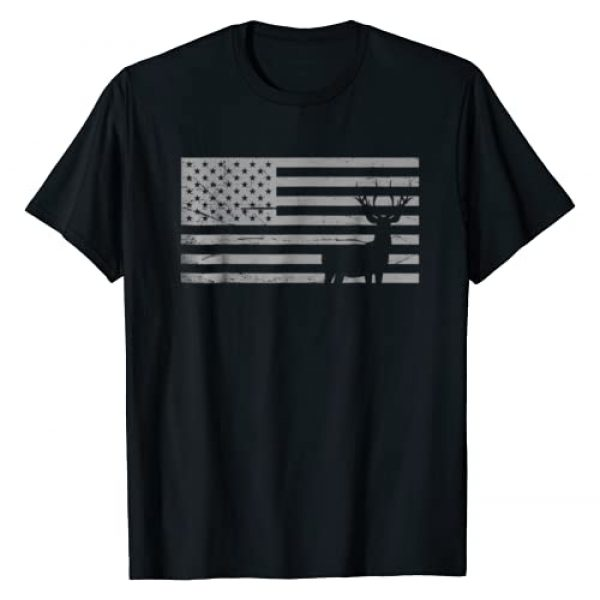 Hunting Lover Tee By Rs Graphic Tshirt 1 Deer Hunting And America Flag T Shirt Hunting Lover Gift