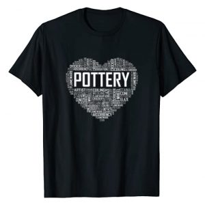 Pottery, Sculpture and Ceramics Tees Co Graphic Tshirt 1 Proud Clay Pottery Heart for Ceramic Artist T-Shirt