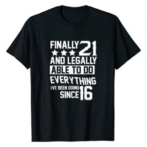 Finally 21 Years Birthday Gifts Graphic Tshirt 1 21 Years Old Gift | 21st Birthday T-Shirt