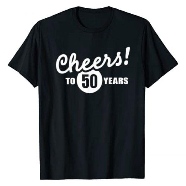 Birthday Gifts Graphic Tshirt 1 Cheers to 50 years birthday T-Shirt