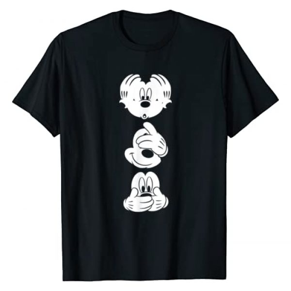 Disney Graphic Tshirt 1 Mickey Mouse Three Faces T Shirt