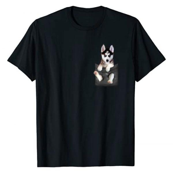 Siberian Husky Dog Mom Dad Shirt Graphic Tshirt 1 Siberian Husky In Pocket Puppy T Shirt