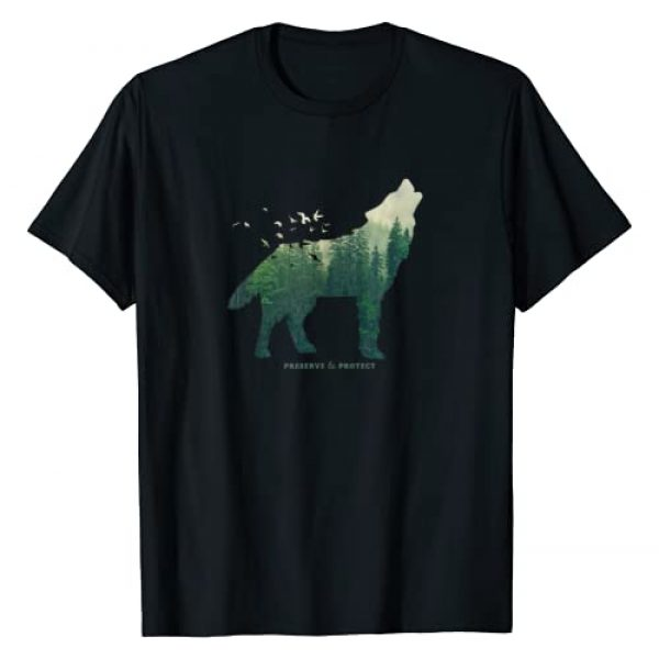 Retro National Park Gifts For Women, Men & Kids Graphic Tshirt 1 Preserve & Protect Vintage National Park Wolf Gift T-Shirt