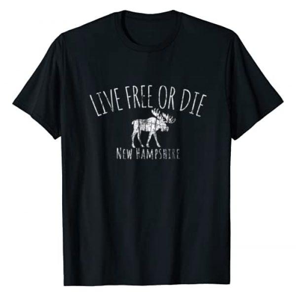 603: New Hampshire Shirts Graphic Tshirt 1 Live Free or Die New Hampshire T-Shirt