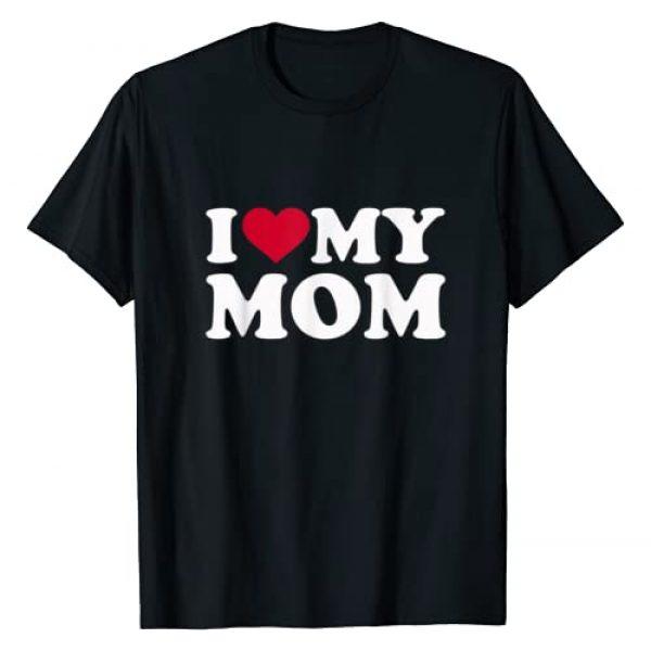 Mom Gifts Graphic Tshirt 1 I love my mom T-Shirt