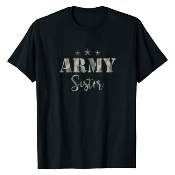 Proud Army T-shirt Graphic Tshirt 1 Proud Army Sister T-Shirt- Camouflage Shirt Army Sister Tee T-Shirt