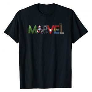 Marvel Graphic Tshirt 1 Avengers Character Text Portrait T-Shirt