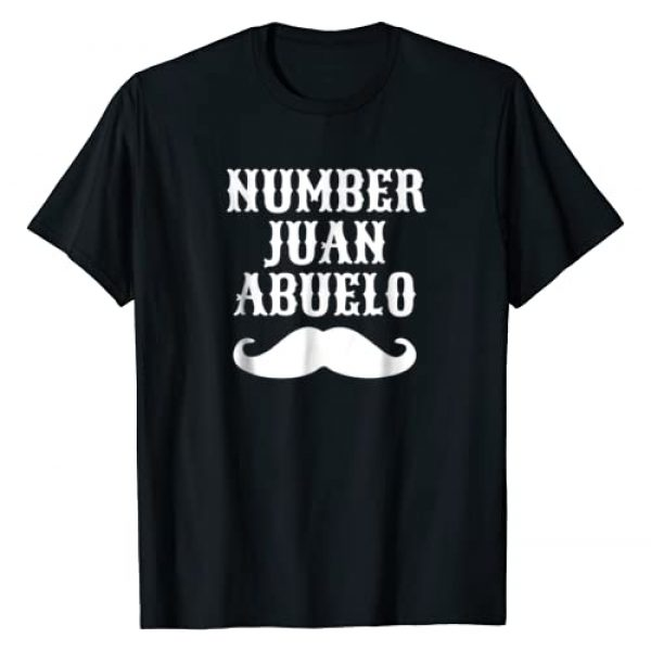 Mexican Grandpa Tees and Fathers Day Shirts Graphic Tshirt 1 Number Juan Abuelo Spanish T-Shirt | Mexican Best Dad Gifts