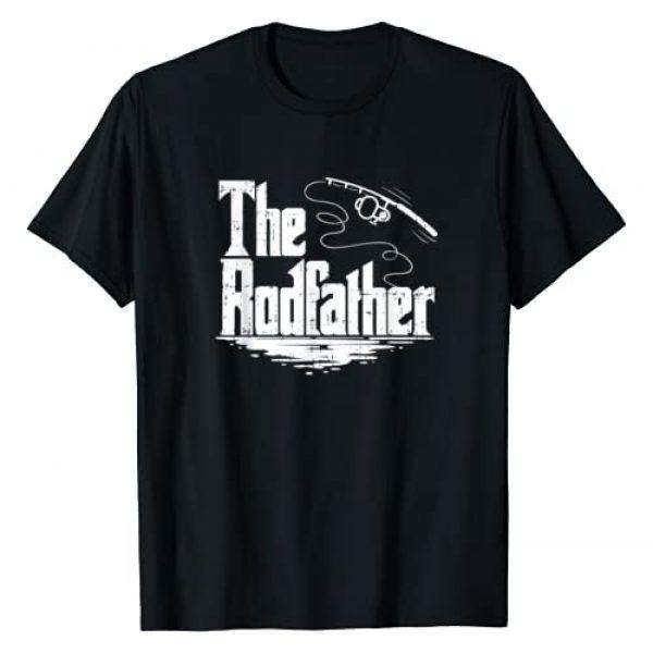 Fishing Gifts & Shirts Graphic Tshirt 1 Funny Fishing Gift Tshirt   The Rodfather