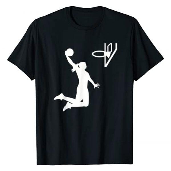 Basketball gifts Graphic Tshirt 1 Basketball girl woman T-Shirt