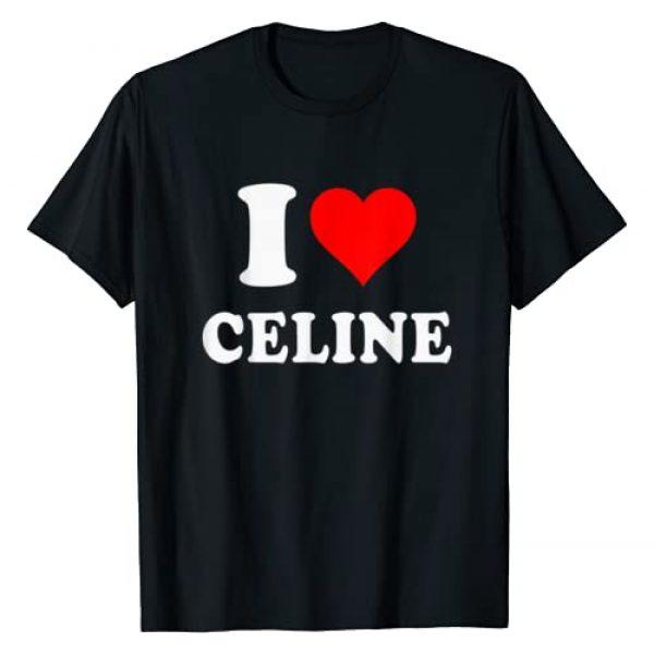 Charmink Valentine's Day Collection Graphic Tshirt 1 I Love CELINE - Love Heart Valentine's Day Gift T-Shirt