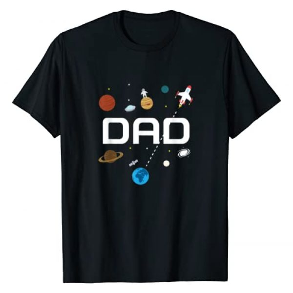 Outer Space Birthday Party Graphic Tshirt 1 Dad Outer Space Birthday Party T-Shirt