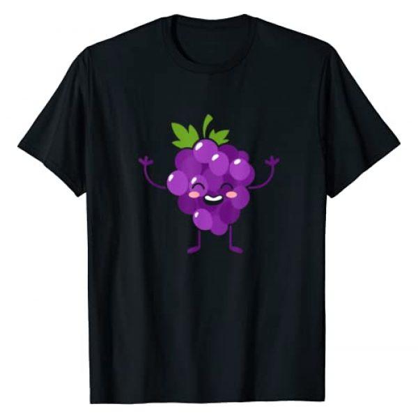 SHIRTSIDE Grapes Graphic Tshirt 1 Grapes - Fruit Gift Cute Grapes Fruit Themed Outfit Gift T-Shirt