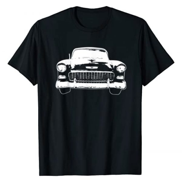 Modern Rodder Graphic Tshirt 1 1955 Classic Car Silhouette