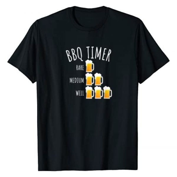 Happy BBQ Apparel Graphic Tshirt 1 BBQ Timer Beer Drinking Funny Grilling T-Shirt T-Shirt