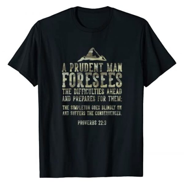 Preppers and Homesteaders Apparel Graphic Tshirt 1 Bible Prepping Quote Prepper Gift T-Shirt