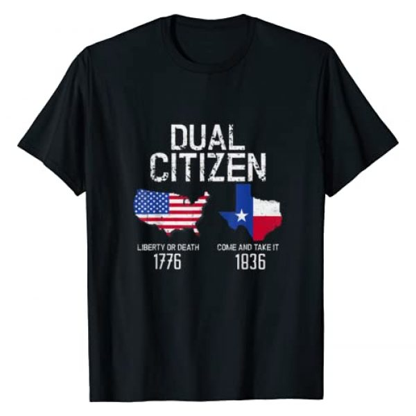 Texas Pride Gift Tee Apparel Graphic Tshirt 1 Dual Citizen Texas Pride Born and Raise USA TX Map Flag T-Shirt