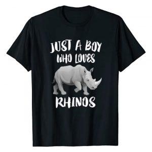 Rhinos Animal Gift Graphic Tshirt 1 Just A Boy Who Loves Rhinos Animal Gift T-Shirt