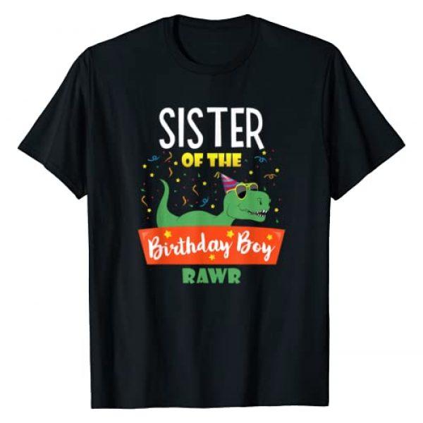 Dinosaur Lover Family Birthday Shirt Graphic Tshirt 1 Sister of the Birthday Boy Shirt Dinosaur Funny Clothes Tees T-Shirt