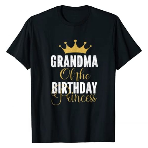 Keep Calm Birthday Gift Tee Shirts Graphic Tshirt 1 Grandma Of The Birthday Princess Girls Party T-Shirt