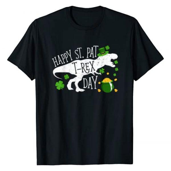 Merchalize Graphic Tshirt 1 Happy St Pat T Rex Saint Patrick's Day Dinosaur T-Shirt