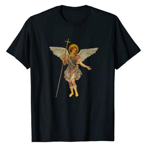 Catholic Jesus Saints t-shirts Graphic Tshirt 1 Beautiful Guardian Angel St Michael Protection t-shirt