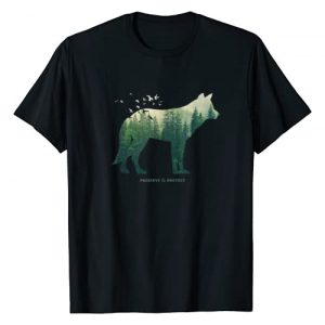 Retro National Park Shirts For Women, Men & Kids Graphic Tshirt 1 Preserve & Protect T-Shirt Vintage National Park Wolf Gift T-Shirt