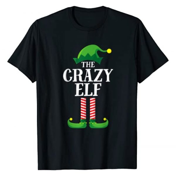 Elf Family Christmas Emporium Graphic Tshirt 1 Crazy Elf Matching Family Group Christmas Party Pajama T-Shirt
